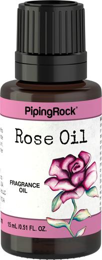 Óleo de Fragrância de Rosa, 1/2 fl oz (15 mL) Frasco conta-gotas