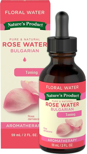 Rose Water Bulgarian, 2 fl oz Dropper Bottle