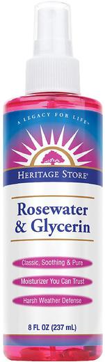 Rosewater & Glycerin Spray, 8 fl oz (237 mL)