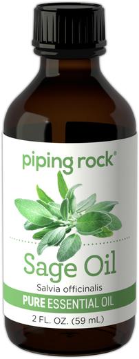 Olejek eteryczny szałwiowy (GC/MS Sprawdzono) 2 fl oz (59 mL) Butelka