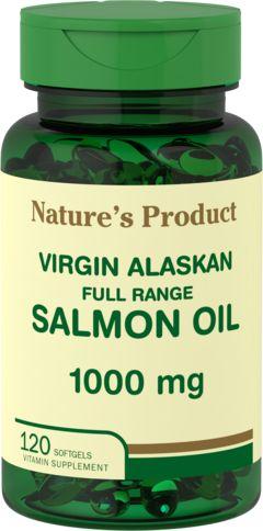 Salmon Oil 1000 mg Virgin Wild Alaskan Full Range