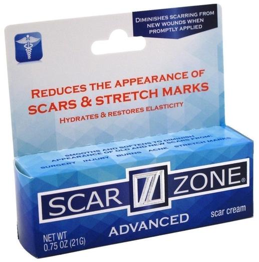 Scar Zone Advanced Cream (Scars, Burns, Stretch Marks), 0.75 oz (21g) Tube