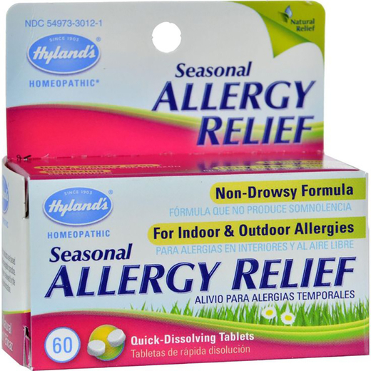 Seasonal Allergy Relief Homeopathic Formula, 60 Tablets