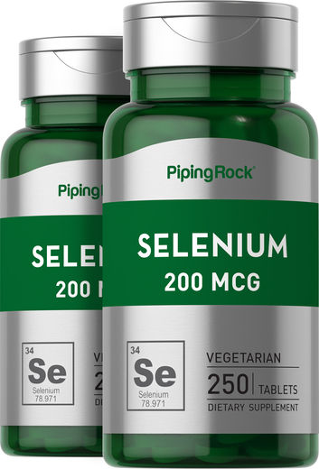 Selenium 200mcg 2 Bottles x 250 Tablets