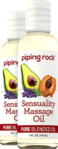 Sensuel massage- og kropsolie 4 fl oz (118 mL) Flasker