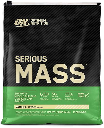 Gainer w proszku Serious Mass (wanilia) 12 lb Torebka