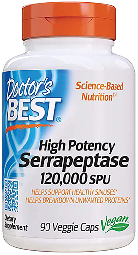 Serrapeptase 120,000 SPU, 90 Veggie Caps