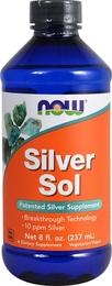 Silver Sol Liquid 10 PPM, 10 ppm, 8 fl oz (237 mL) Bottle