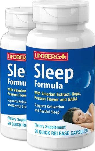 Sleep Formula with Valerian Plus 90 Capsules x 2 Bottles