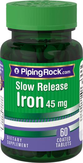 Ferro de libertação lenta , 45 mg, 60 Comprimidos revestidos