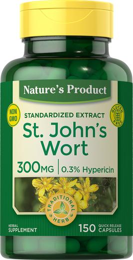 St. John's Wort 0.3% Hypericin (Standardized Extract), 300 mg, 150 Capsules