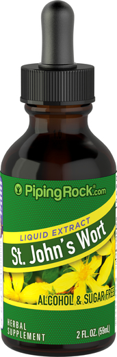 St. John's Wort Liquid Herbal Extract 2 fl oz (59 mL) Dropper Bottle