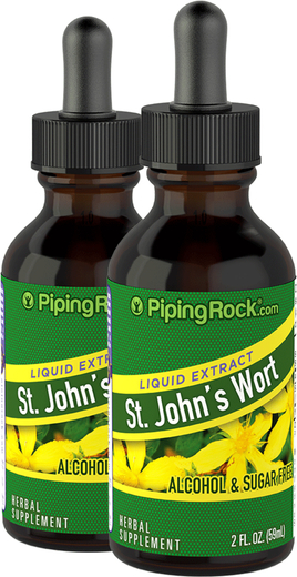 St. John's Wort Liquid Herbal Extract 2 Dropper Bottles x 2 fl oz (59 mL)