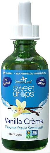 SweetLeaf Liquid Stevia Vanilla Creme 2 fl oz (60 mL) Dropper Bottle