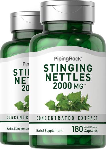 Stinging Nettles 2000 mg 2 Bottles x 180 Capsules