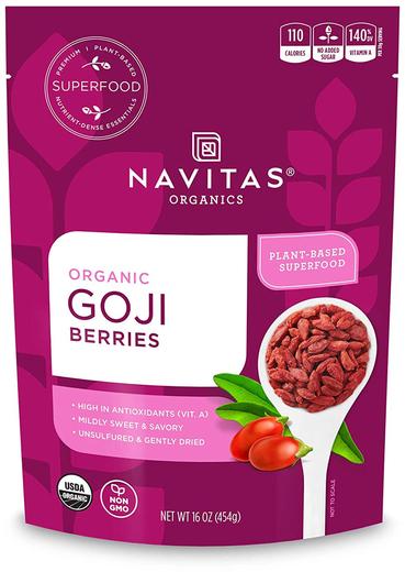 Goji Berries (Organic), 1 lb (454 g) Bag