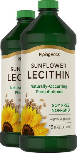 Жидкий лецитин из подсолнечника 16 fl oz (473 mL) Флаконы