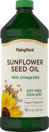 Óleo de sementes de girassol, 16 fl oz (473 mL) Frasco