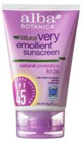 Zonnebrandcrème kinderen natuurlijke emollient SPF 45 4 oz (113 g) Tube