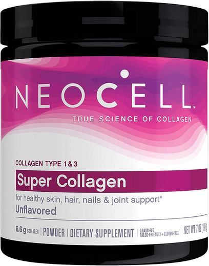 Super Collagen Type 1 & 3 Powder (Unflavored), 7 oz