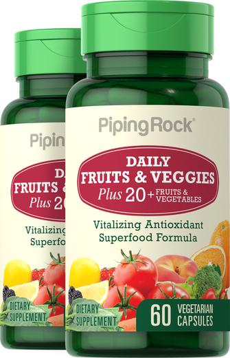 Kapsułki owocowe i warzywne 60 Kapsułki wegetariańskie
