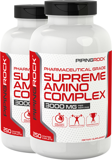 Supreme Amino Complex 3000 mg (per serving), 250 Caplets x 2 Bottles
