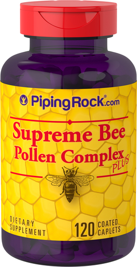 Complexo de pólen de abelha supremo, 120 Comprimidos oblongos revestidos