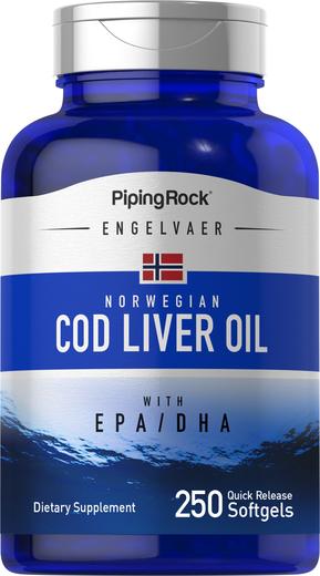 Cod Liver Oil Norwegian 250 Softgels