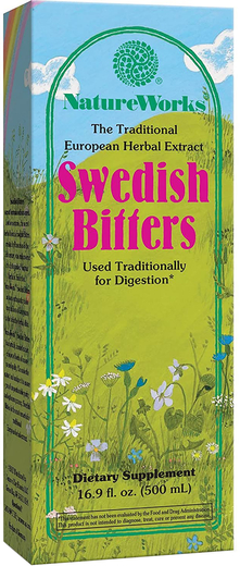 Extracto de hierbas amargas suecas 16.9 fl oz (500 mL) Botella/Frasco