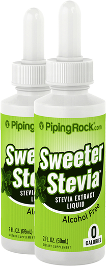 Stévia douce liquide 2 fl oz (59 mL) Compte-gouttes en verre