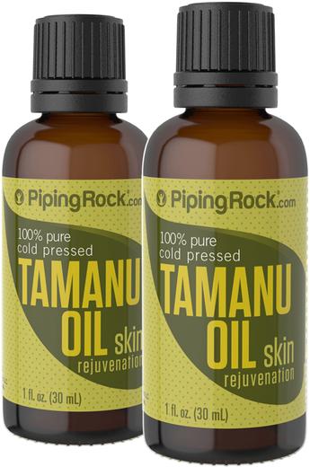 Tamanu Oil 100% Pure 2 Dropper Bottles x 1 fl oz