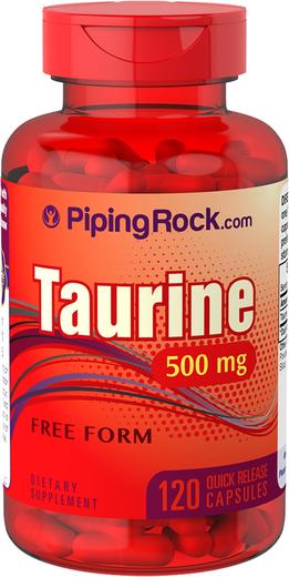 Taurine 500mg 120 Capsules