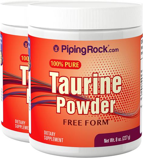 Taurina en polvo 8 oz (227 g) Botellas/Frascos