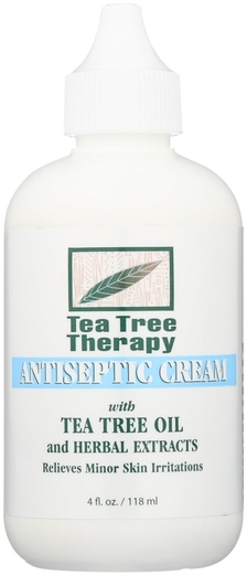 Tea Tree Antiseptic Cream 4 fl oz Bottle