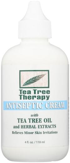 Crema antiséptica de árbol de té 4 fl oz (113 g) Botella/Frasco