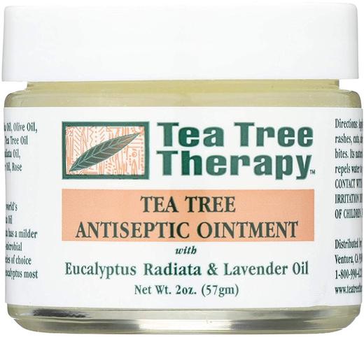Pomada Antisséptica de Óleo de Árvore do Chá 2 oz (57 g) Boião