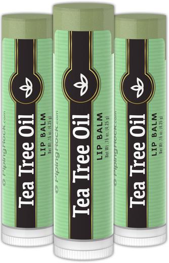 茶樹油唇膏 3件裝 0.15 oz (4 g) 管