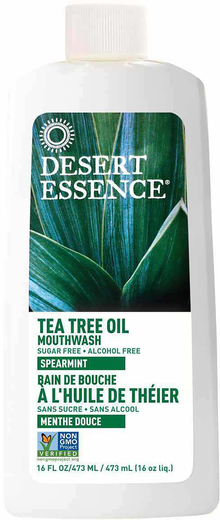 Elixir bucal de óleo de árvore do chã e hortelã, 16 fl oz (473 mL) Frasco