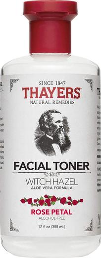 Toner Thayers z płatkami róż, oczarem i aloesem 12 fl oz (355 mL) Butelka
