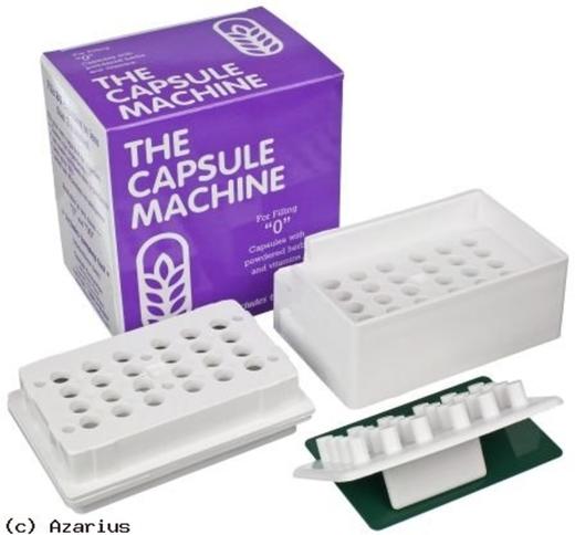 Máquina de cápsulas do tamanho 0, 1 Unidade