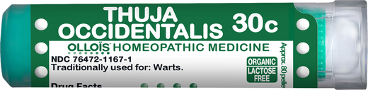 Thuja Occidentalis 30cHomeo Healing for Warts, 80 Pellets