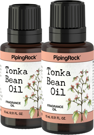 Tonka Bean Fragrance Oil 2 Dropper Bottles x 1/2 oz (15 ml)