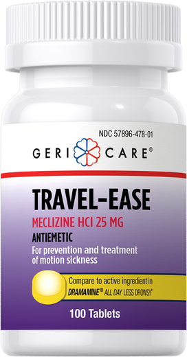 Travel-Ease Meclizine HCl 25 mg, 100 Tablets