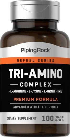 Tri-amino L-arginina L-ornitina L-lisina, 100 Comprimidos oblongos revestidos