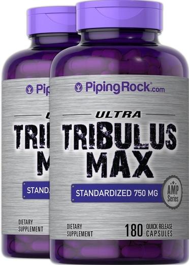 Tribulus Max Standardized Extract 750 mg 180 Caps x 2 Bottles