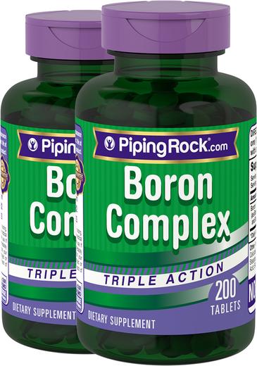Complexo de boro Tripla ação , 3 mg, 200 Comprimidos, 2  Frascos