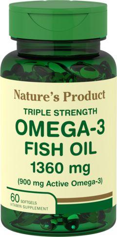 Omega-3 Fiskeolje med trippel effekt 13(Active Omega-3) 60 Myke geler