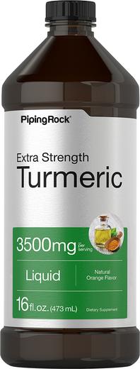 Extra Strength Turmeric (Natural Orange Flavor), 3500 mg (per serving), 16 fl oz (473 mL) Bottle