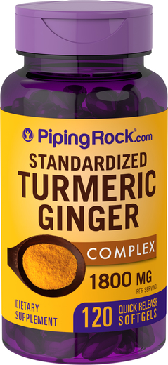 Turmeric Ginger Complex Standardized, 1800 mg (per serving), 120 Softgels