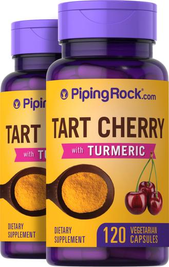 Turmeric with Tart Cherry, 120 Capsules x 2 Bottles